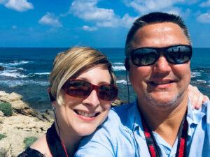 Kristy and Dewayne Sullivan in Caesarea, Israel