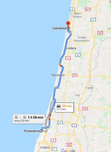 Travel to Caesarea