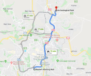 Travel to the Jerusalem Archeological Park