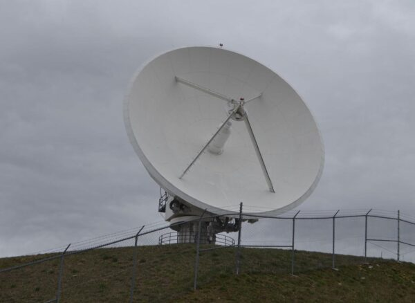 Shown is one of several satellite dishes used by NOAA at the I-79 Technology Park. Staff file photo by John Mark Shaver