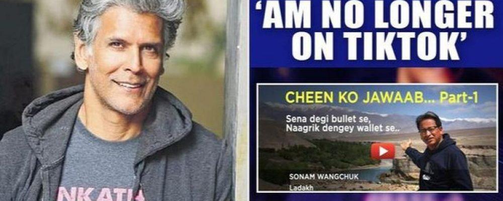 Milind Soman Uninstalls TikTok, Joins Sonam Wangchuk's 'Boycott Chinese Products' Movement