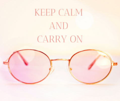 Now is the right time to keep calm