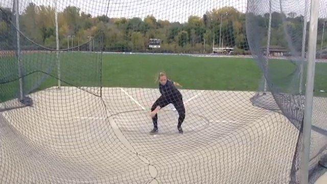 Discus ball throws