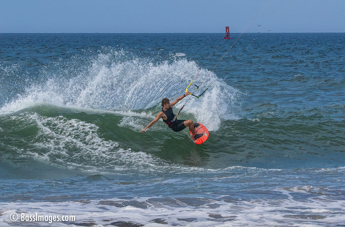 Kite surfer photographed by Bass Images