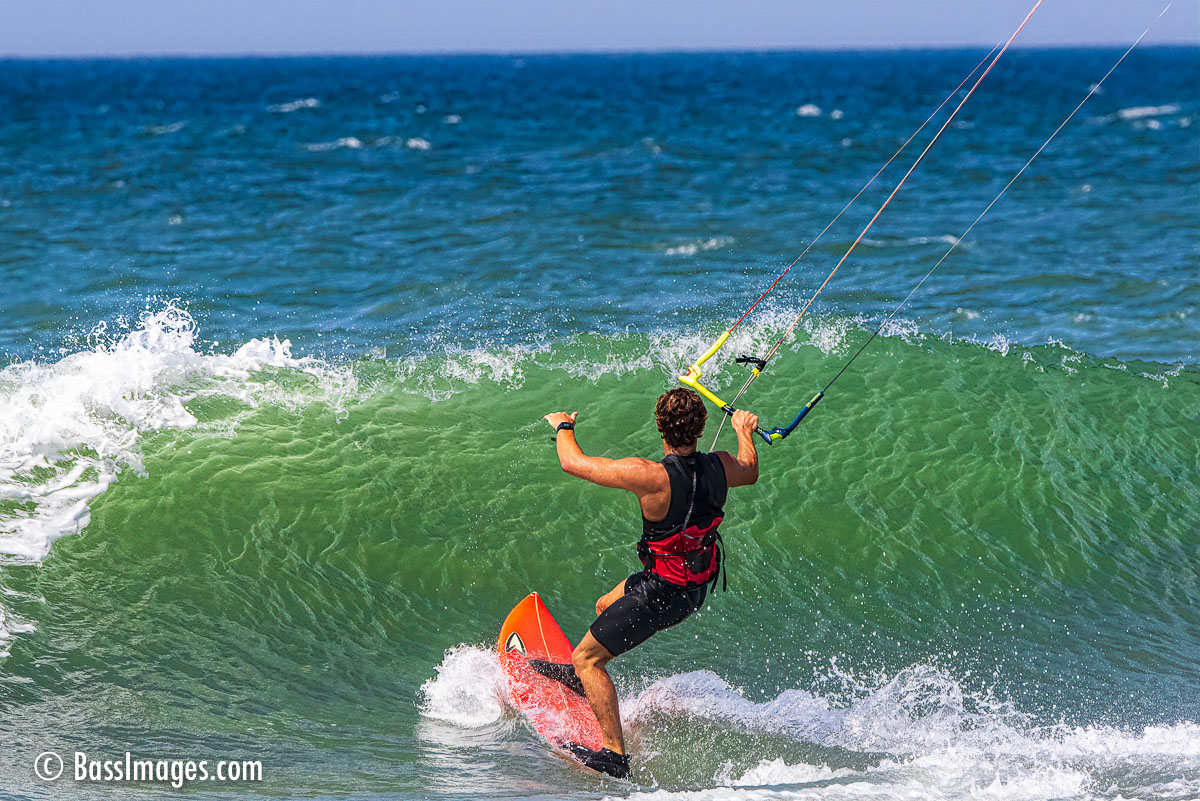 Kite surfing by Bass Images