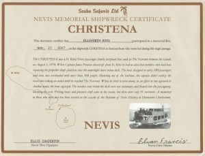 Christena Certificate