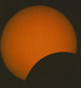 Beginning of Solar Eclipse, Island of St. Kitts, 1998
