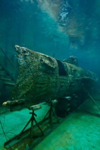 H.L. Hunley Underwater