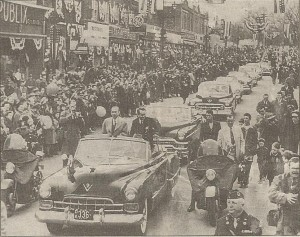 Hero's welcome: Woodbridge, N.J. welcomes home Capt. Henrick Kurt Carlsen in a parade attended by 100,000. He was also honored with a ticker-tape parade on Broadway. (Sun File Photo)