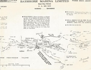 Bahamas Wreck Map