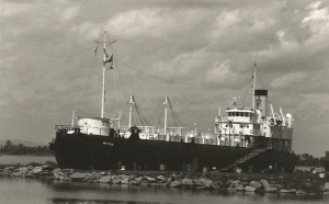 Whaleback steamer SS METEOR, typical of the ships that carried coal on the Great Lakes. Photo Credit: Head of the Lakes Maritime Society.