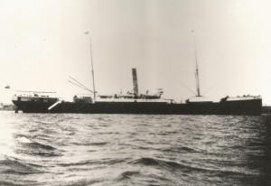 The Benwood, anchored off Rosario, Argentina in 1924