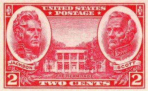 Stamp honoring General Winfield Scott