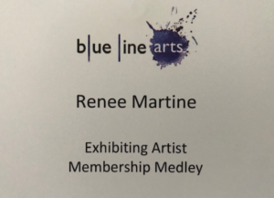 Renee Martine, acrylic string/pour art, Rocklin CA