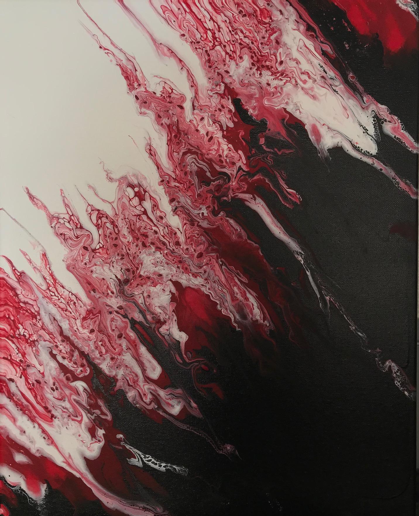 Renee Martine, acrylic string/pour art, Rocklin CA