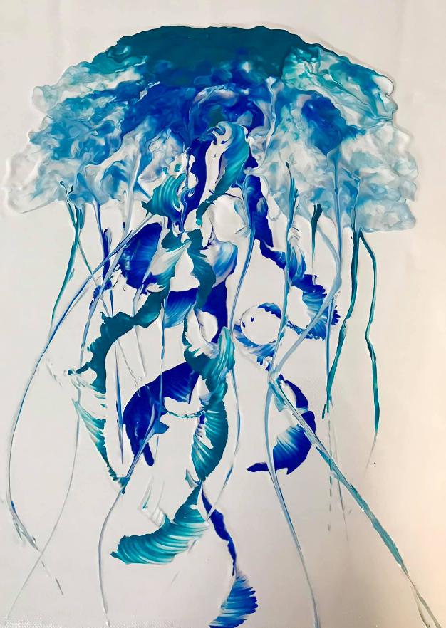Renee Martine, acrylic pour art, Rocklin CA
