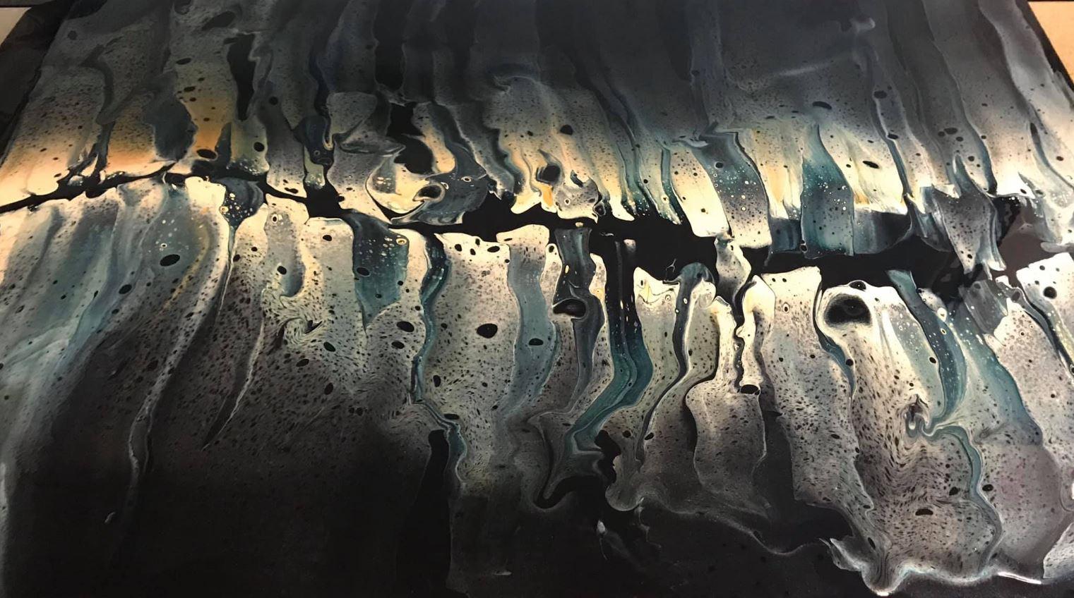 Renee Martine—Artist | acrylic string/pour art, Rocklin CA