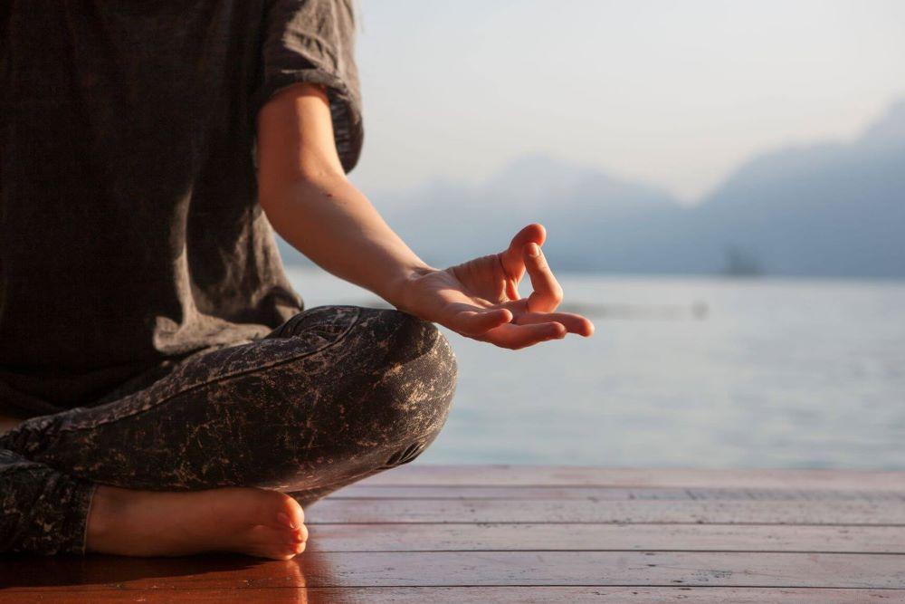 Meditation using Calm App