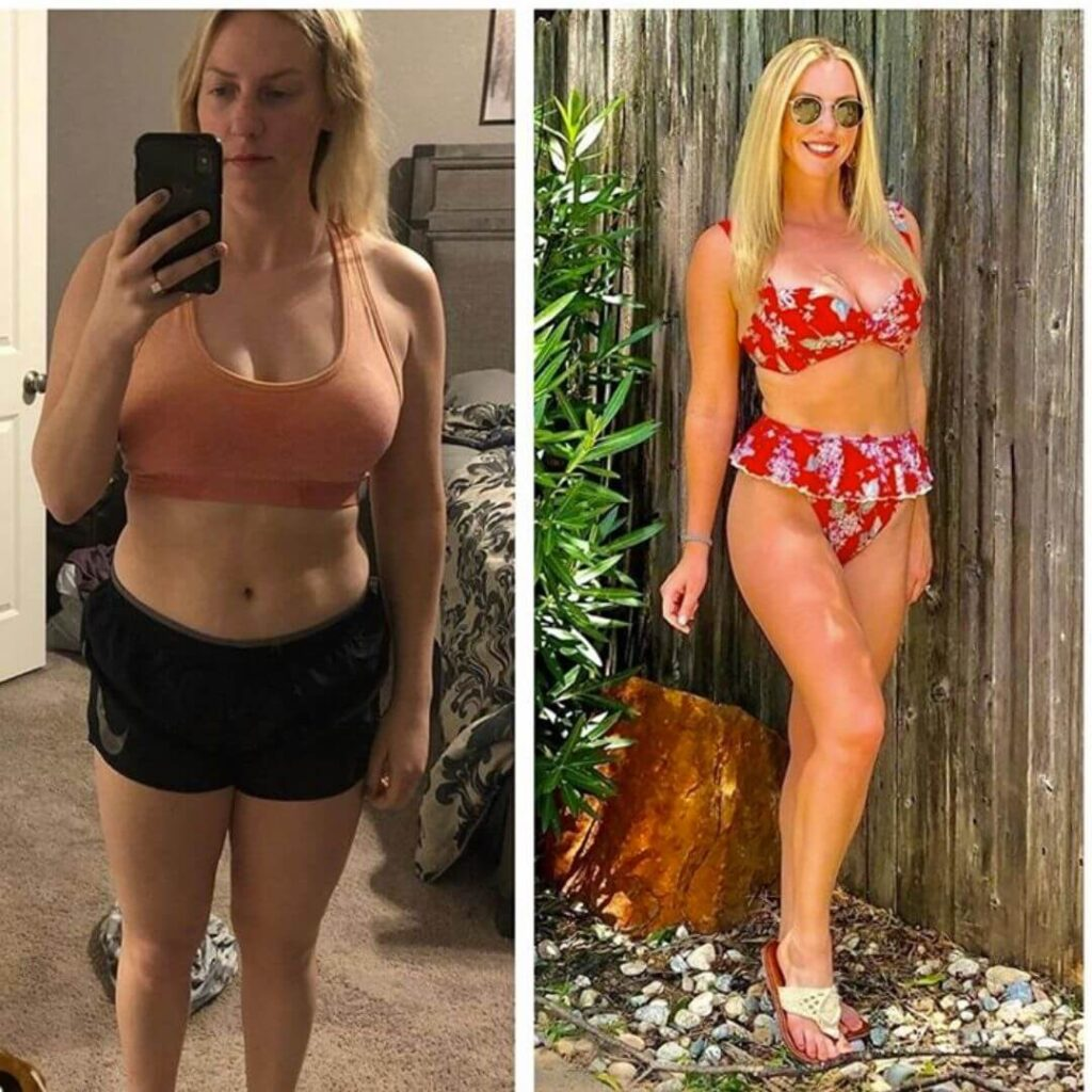 Blonde Woman Transformation Photo
