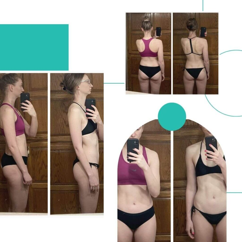 Woman Transformation Photo Fitness Nutrition