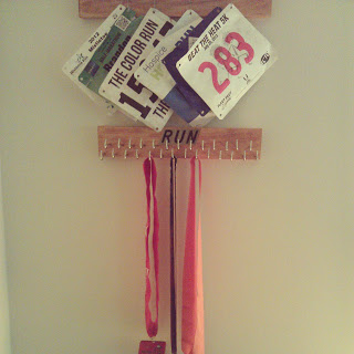 Building a Display for your Race Bibs/Medals