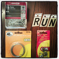what you need materials/supplies to build a Display for your Race Bibs/Medals