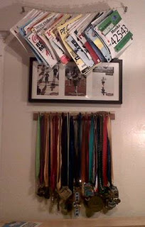 how to build a display for your race bibs