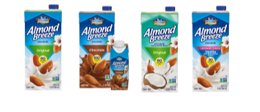 vegan milk almond breeze example