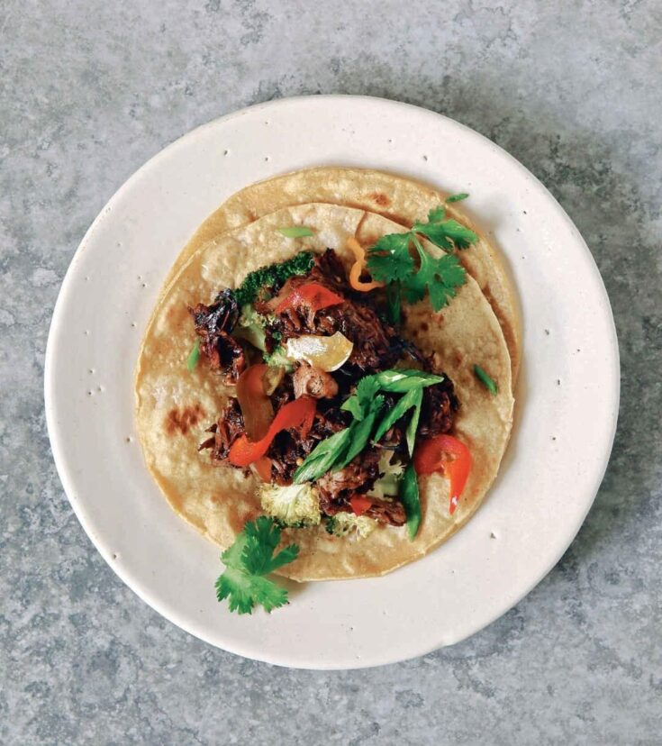 Carmelized Vegan Jackfruit Tacos