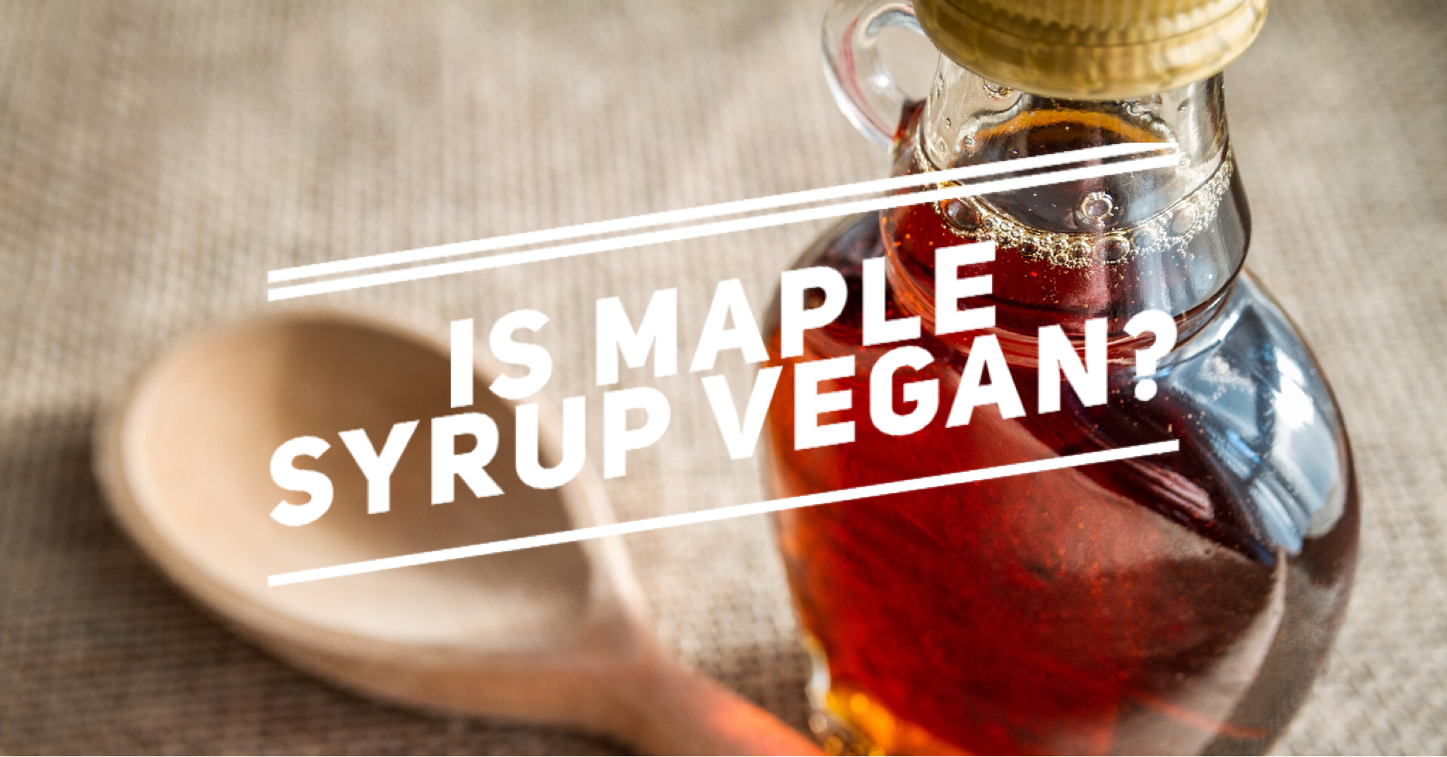 is maple syrup vegan?