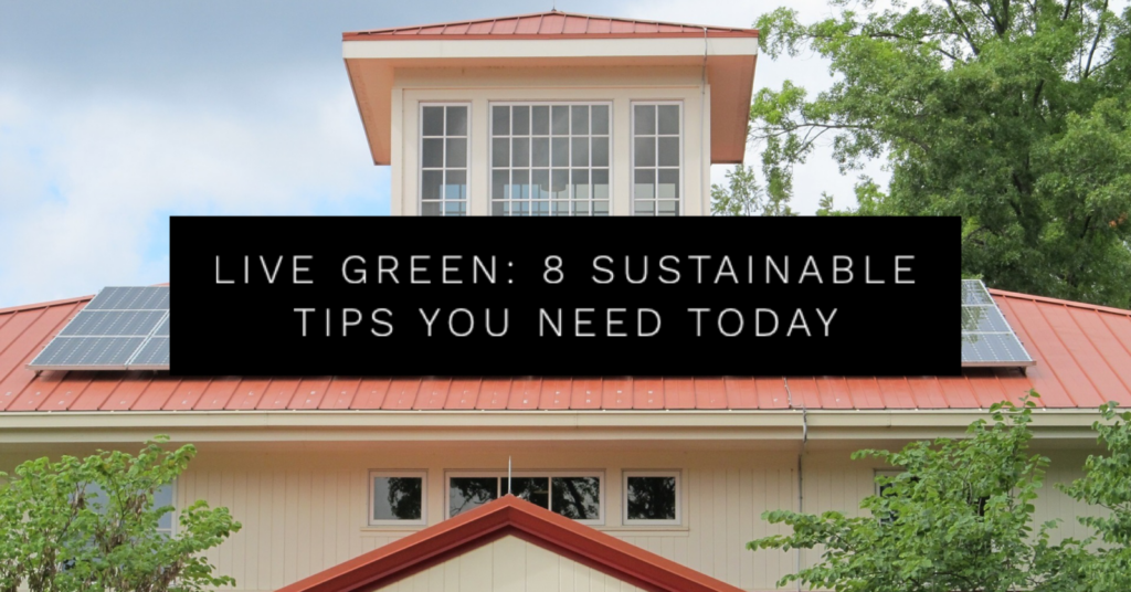 Live Green: 8 Sustainable Living Tips You Need Today