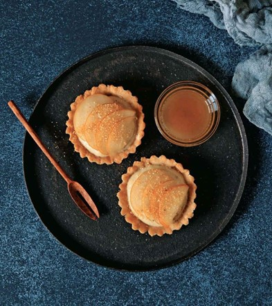 Orange Creamsicle Tartlets With Ginger Pears