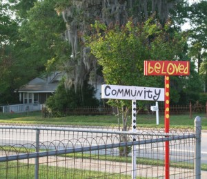 Sign outside the home of Joy Jinks in Colquitt, GA, her Beloved Community