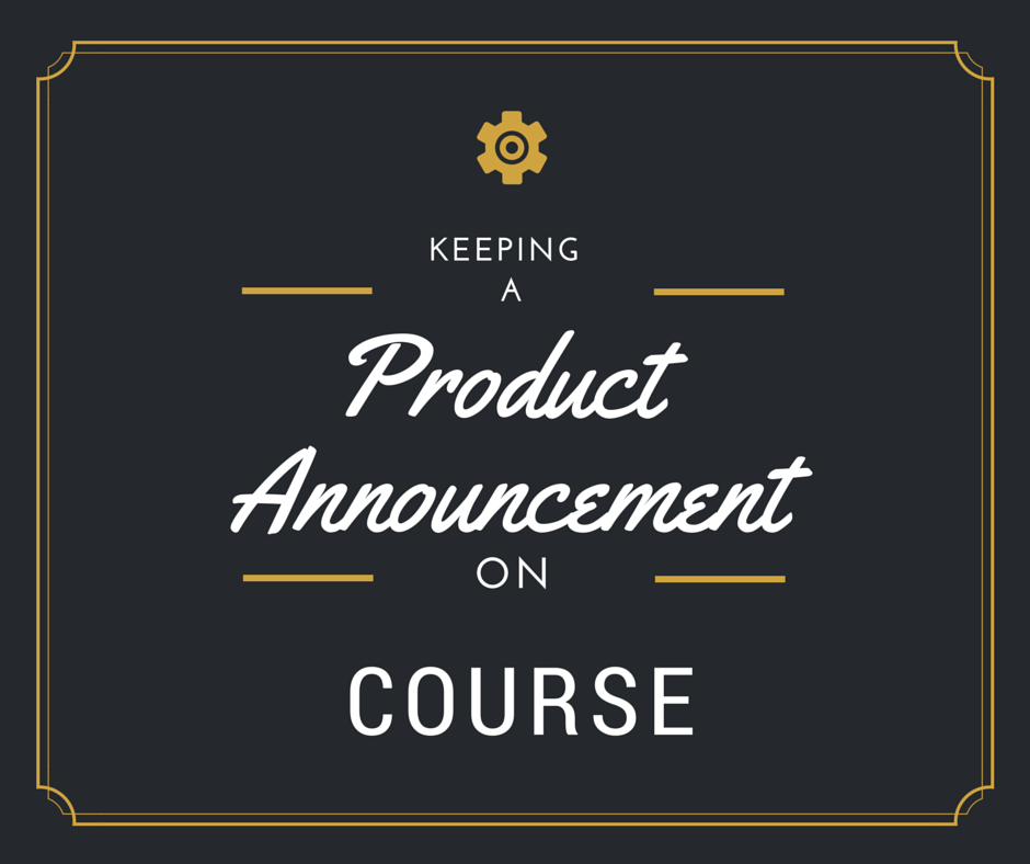 Product Announcement on Course