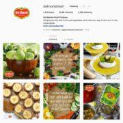 Del Monte Fresh's Instagram has a cohesive layout