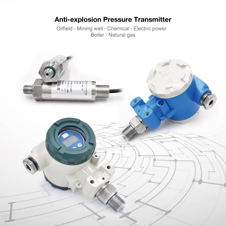 pressure transmitter for oil water gas air