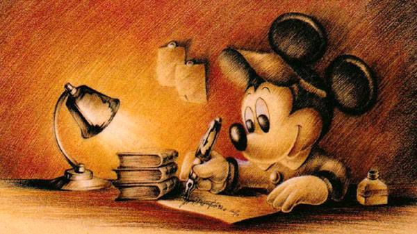 Writing Mickey