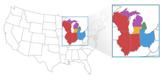 Vandenberg Bulb Sales Rep Area Map