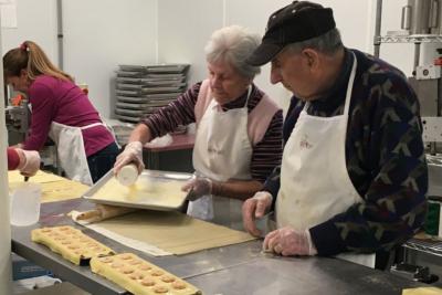 3 generations make handmade ravioli at Campo Di Vino in Barre, VT