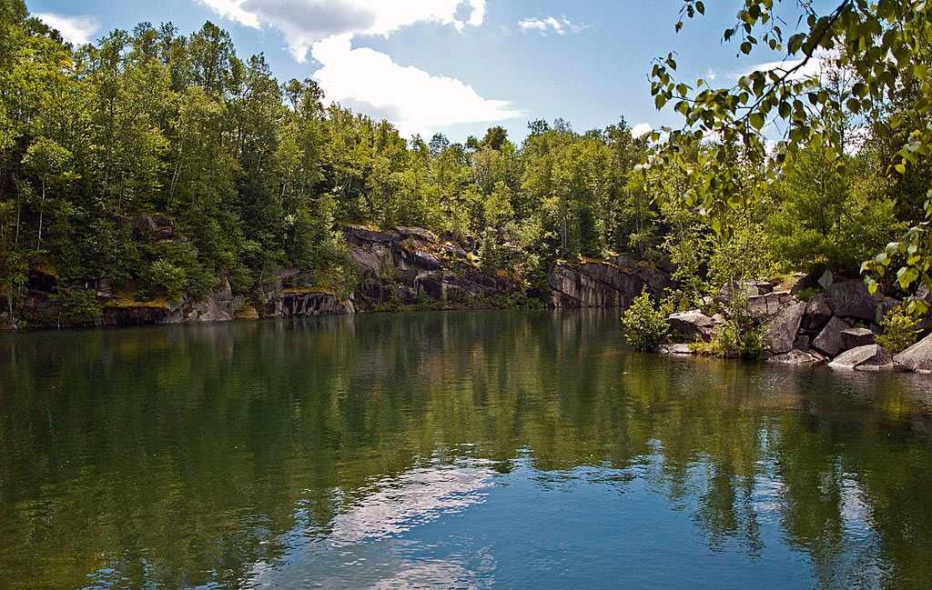 A quarry lake in Barre, VT