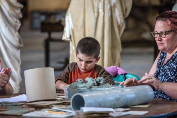 Create your own clay model at the Vermont Granite Museum.
