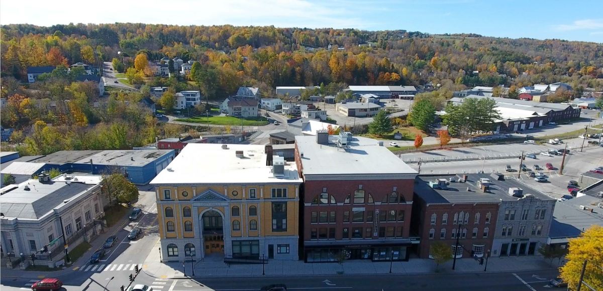 City Hall and the Blanchard Block in Barre, VT