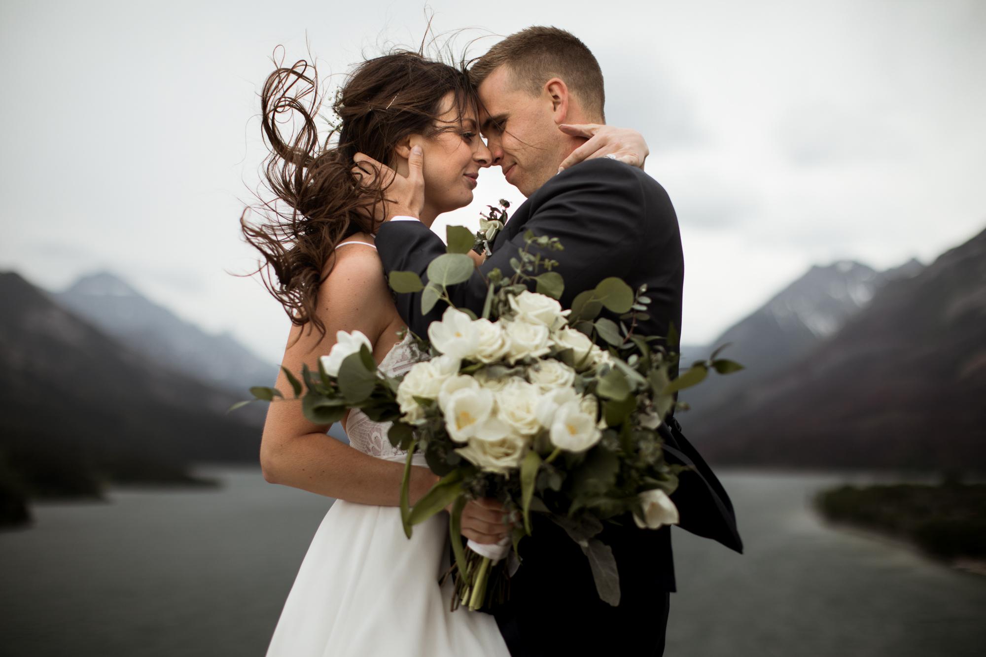 windy Waterton elopement