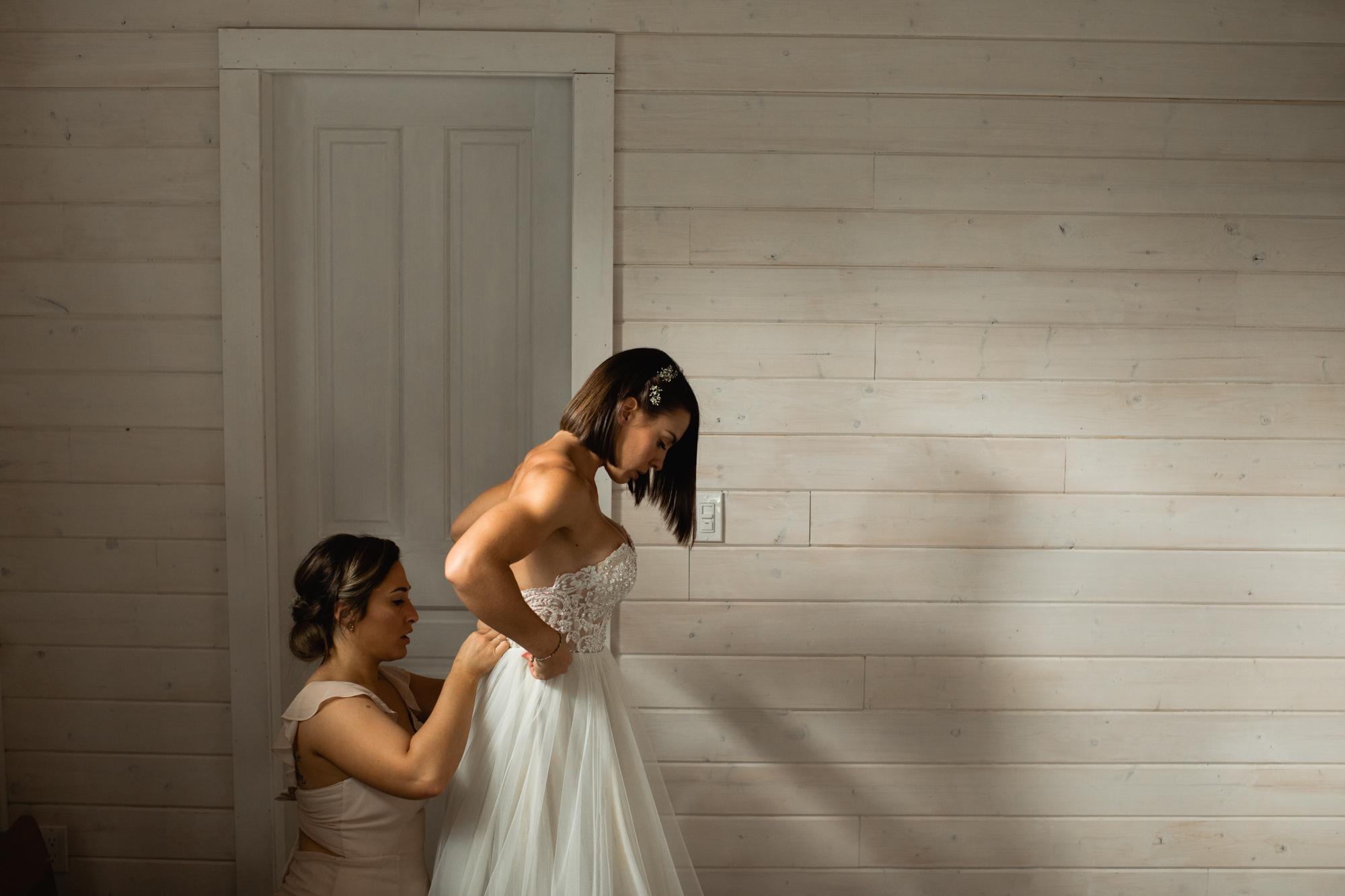 bride getting ready adventure elopement