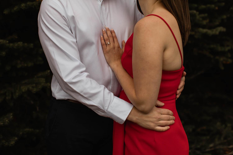 Engagement shoot couple