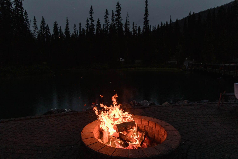 Emerald Lake Lodge fire pit