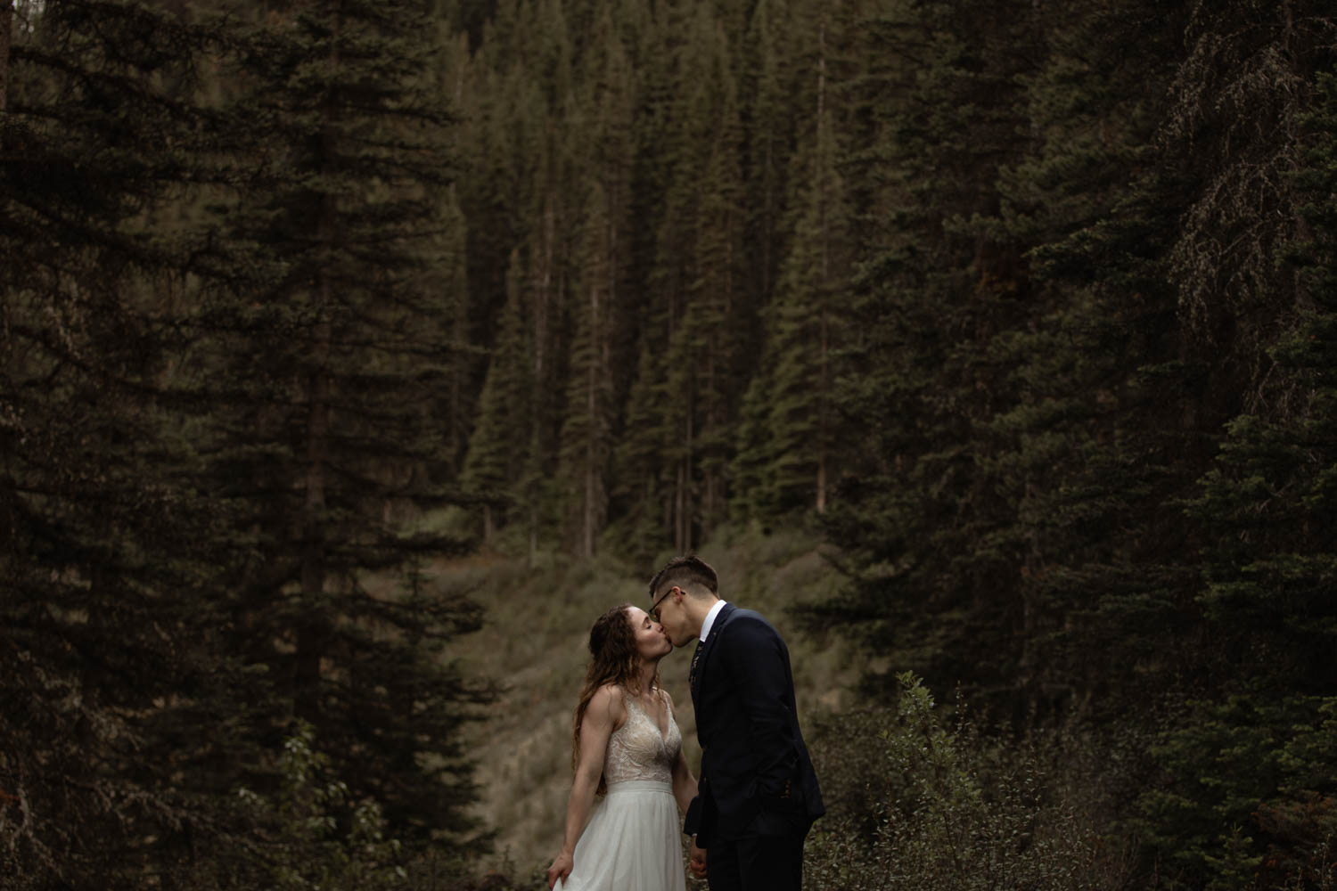 Kananaskis forest elopement