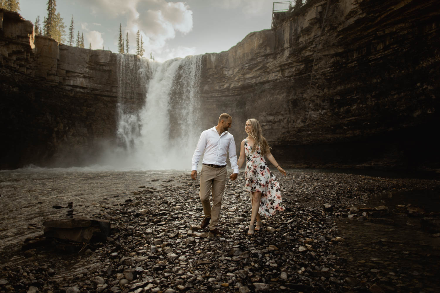 Abraham Lake Engagement Photography