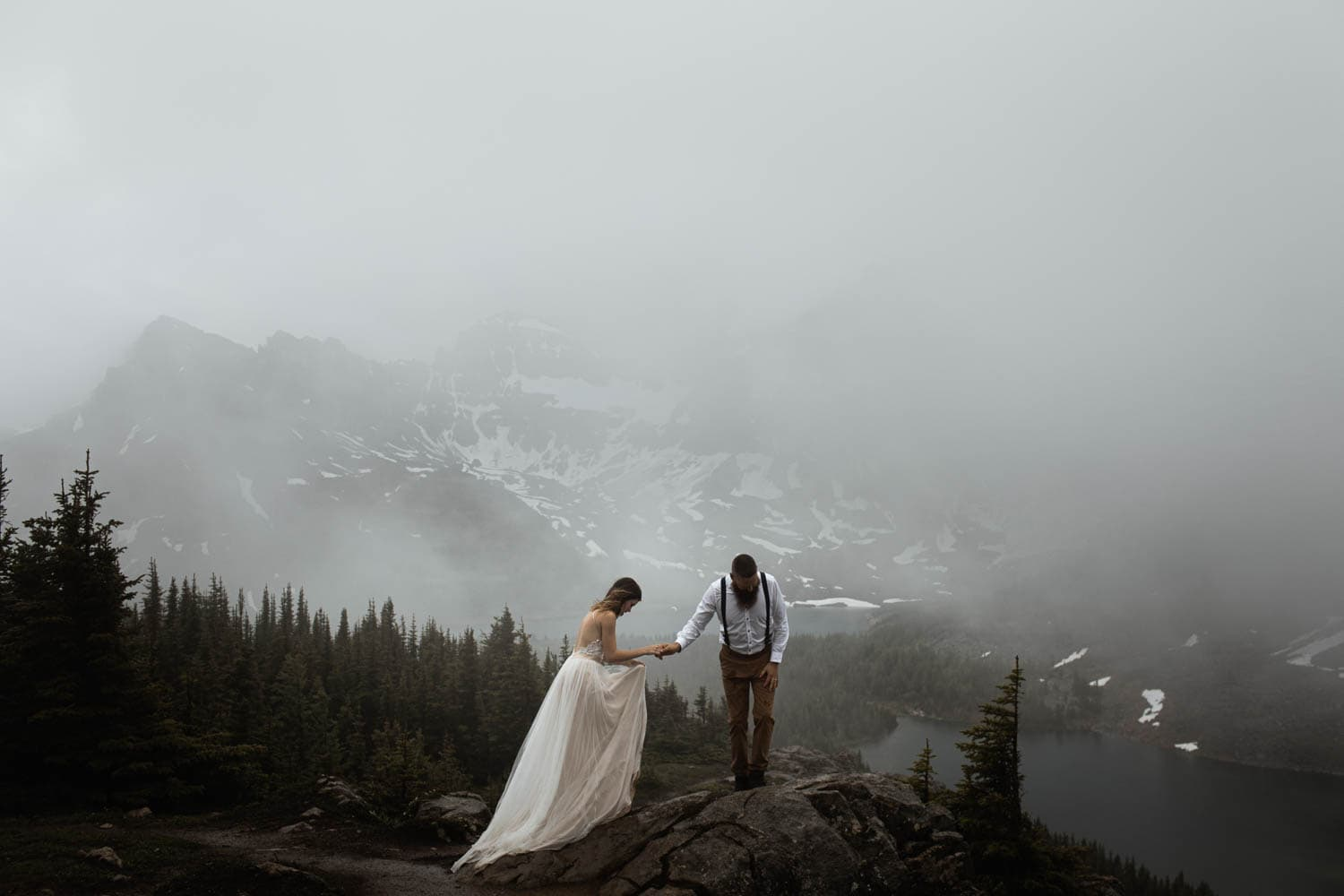 Moody Mountain Bridal Portraits