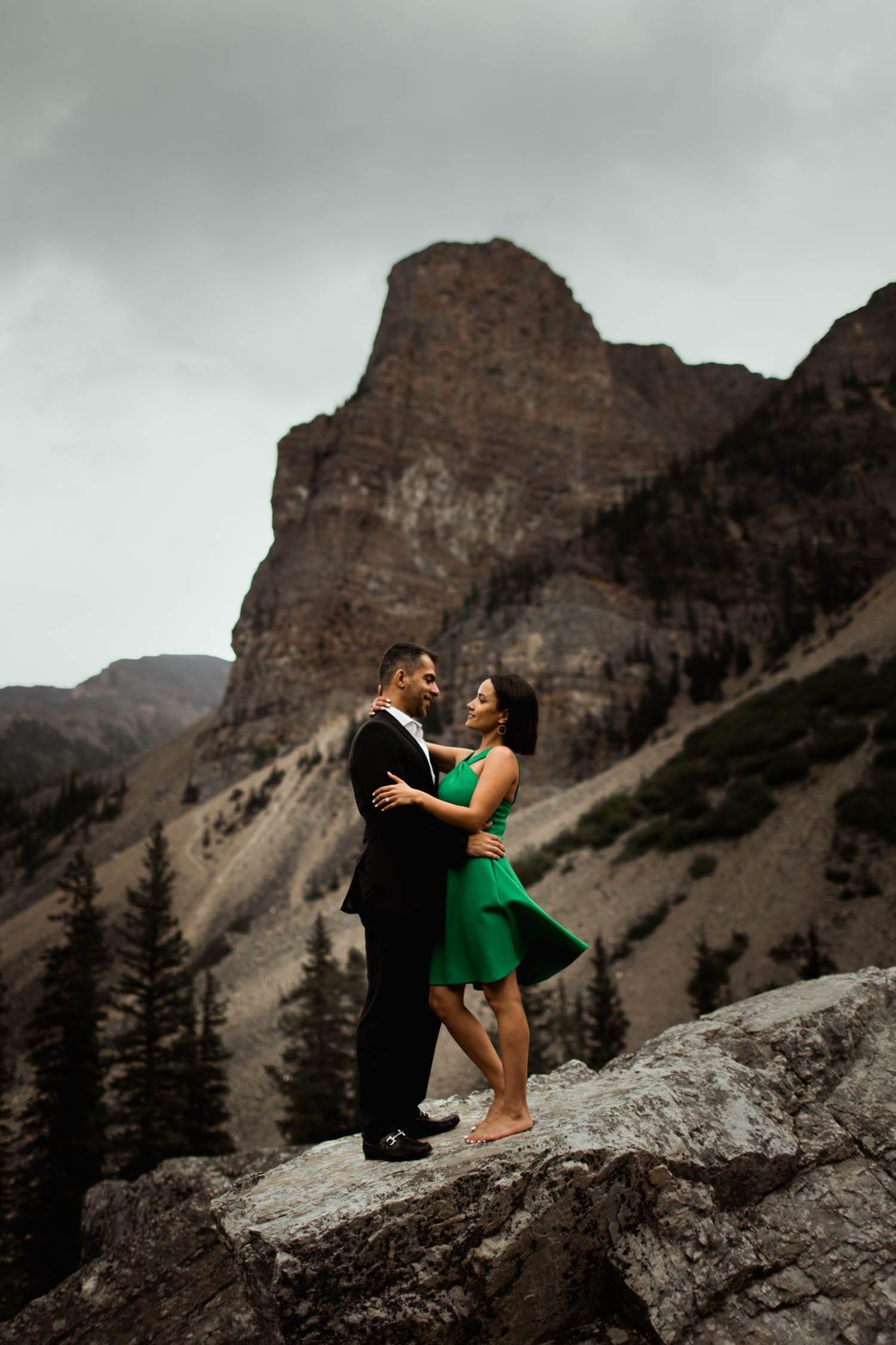Moraine Lake Engagement Dress